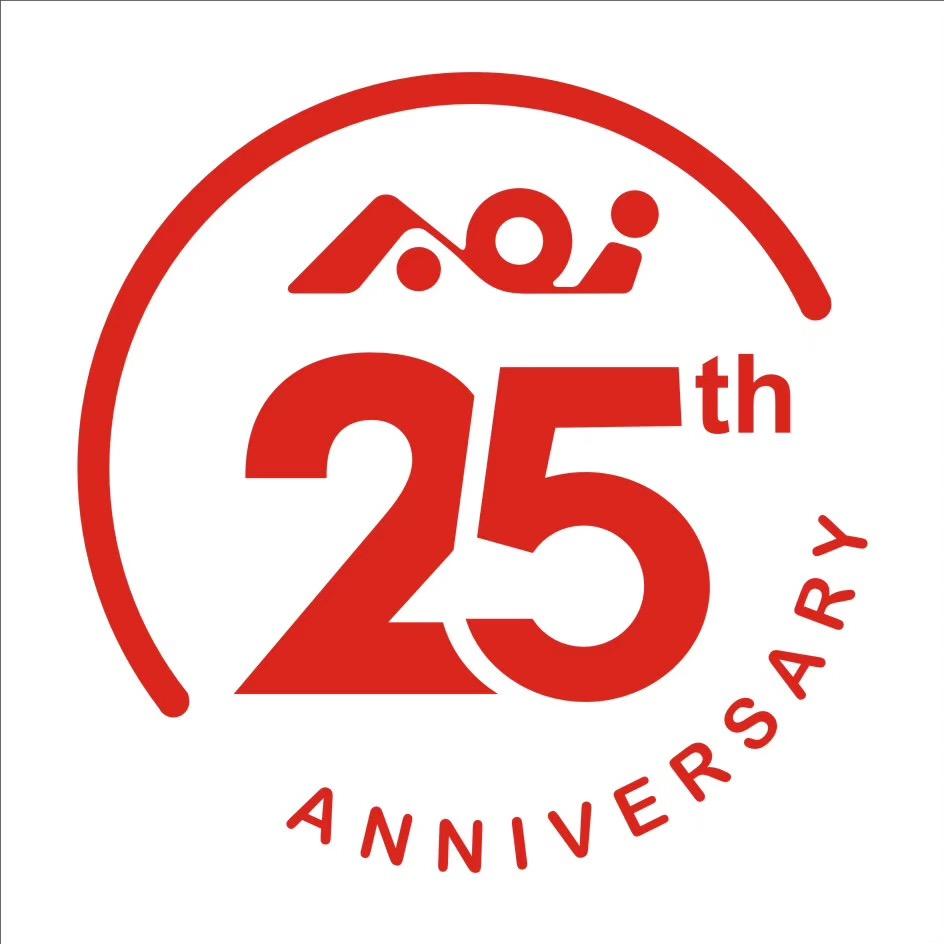 AOI 25th Anniversary Logo